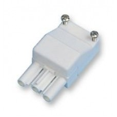 Mains inlet connector - cable end. 3 pole - 6 screw terminal