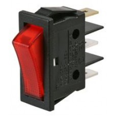 Red illuminated on/off Rocker Switch for Plug in Systems