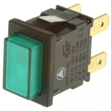 Pushbutton On/Off Switch - DPST 250V 12A