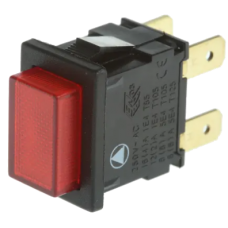 Square Illuminated Red Push Button On/Off Switch for Sargent ECU's