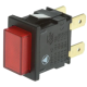Square Illuminated Red Push Button On/Off Switch for Sargent ECU's - NEW