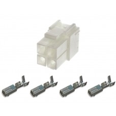 Square type mains connector 2x2 - 4 way