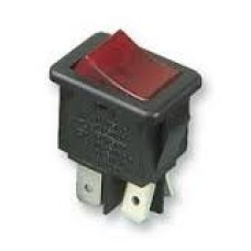 Red Illuminated on-off rocker switch